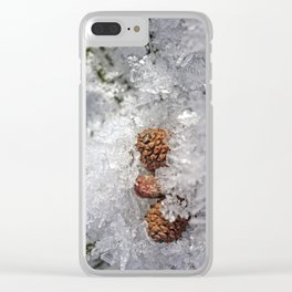 Frosty bed Clear iPhone Case