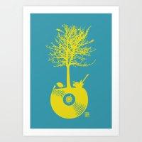 Vinyl Tree Art Print