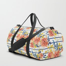 Orange bouquet pattern Duffle Bag