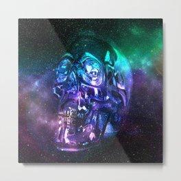 vaporwave skull Metal Print