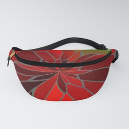 Abstract Poinsettia Fanny Pack