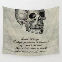 shakespeare Wall Tapestries featuring Hamlet - Shakespeare by pithyPENNY