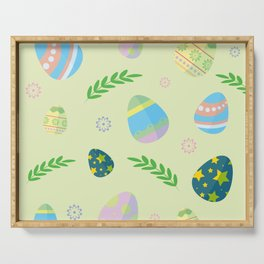 Easter eggs pattern Serving Tray