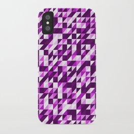 Purple Patchwork iPhone Case