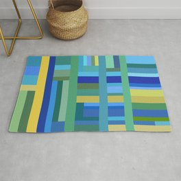 Cool Color Composition Rug