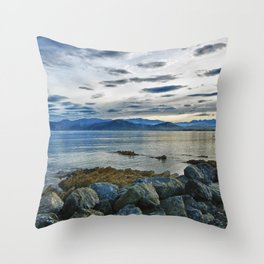 Dusk over South Bay, New Zealand Throw Pillow