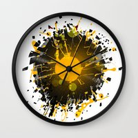 springsteen Wall Clocks featuring Don't Destroy the Vinyl by Sitchko
