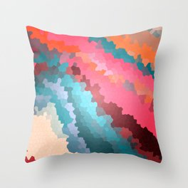 Abstract geometric background with squares Throw Pillow