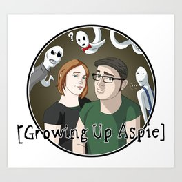 Growing Up Aspie - Kandace and Nathan Art Print