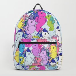 g1 my little pony sea pony collage Backpack
