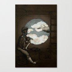 Aviator Girl (Steampunk) Canvas Print