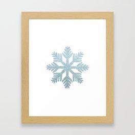 Blue Glitter Snowflake Framed Art Print