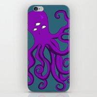 occult iPhone & iPod Skins featuring Occult Octopus by mystmoon