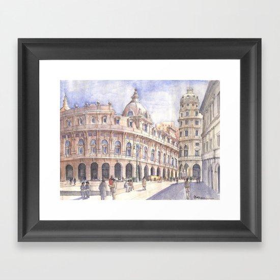Genova Piazza de Ferrari Framed Art Print