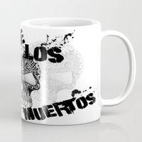 dia de los muertos Mugs featuring Dia De Los Muertos by Digi Treats 2