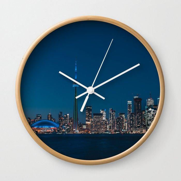 Toronto Blue Wall Clock By Paumzito Society6