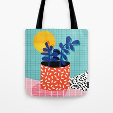 No Way - wacka potted house plant indoor cute hipster neon 1980s style retro throwback minimal pop  Tote Bag