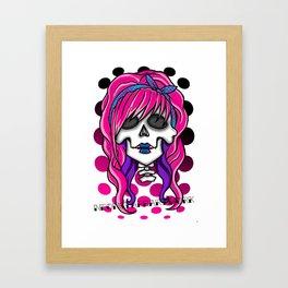'Rockabilly skull' Framed Art Print