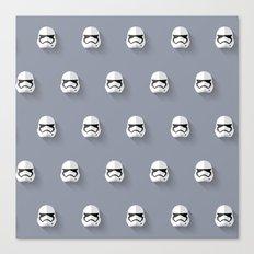 Stormtrooper Episode VII Flat Design Mosaic Canvas Print