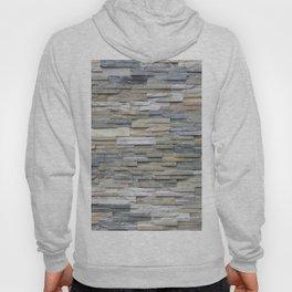 Gray Slate Stone Brick Texture Faux Wall Hoody