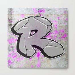 R - Graffiti letter Metal Print
