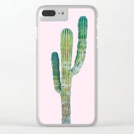 Pop Art Cactus Clear iPhone Case