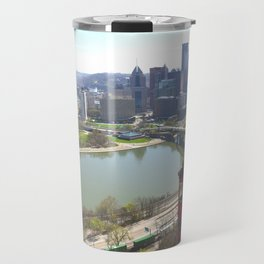 Downtown Pittsburgh point and incline 32 Travel Mug