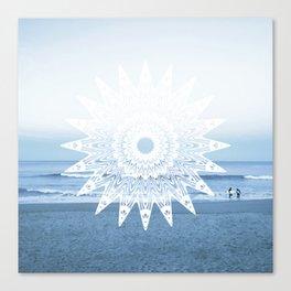 Surf mandala Canvas Print