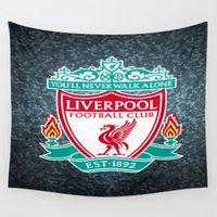 liverpool Wall Tapestries featuring LIVERPOOL by Acus
