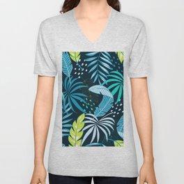 Tropical Design Unisex V-Neck