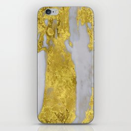 Whipped Cream Marble with 24-Karat Gold Veins iPhone Skin