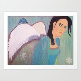 defeated angel Art Print