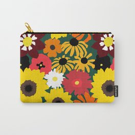 Retro Fall Flowers Carry-All Pouch
