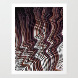 COIF abstract gradient waves of brown and white Art Print