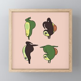 Handstand Avocado Framed Mini Art Print