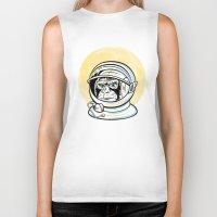 ape Biker Tanks featuring Space Ape by Fanboy30