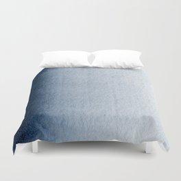 Indigo Vertical Blur Abstract Duvet Cover