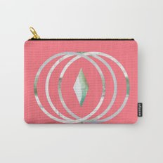 Minimalist Waves in Watermelon Carry-All Pouch