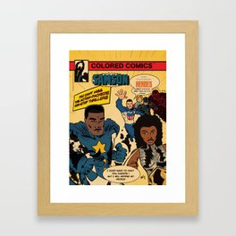 Colored Comics Presents Samson Framed Art Print
