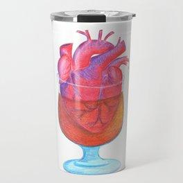 Whiskey Soaked Heart Travel Mug