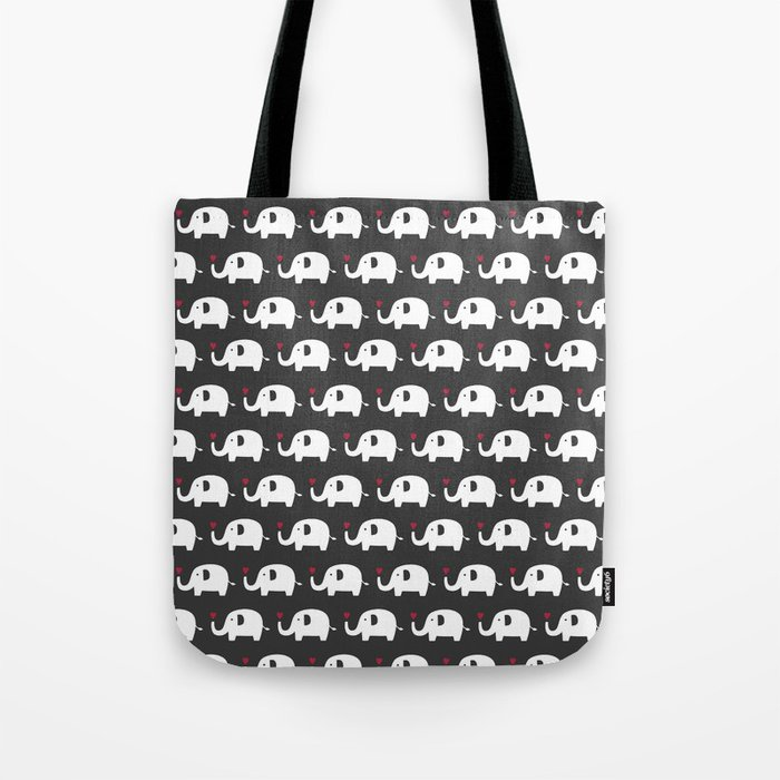 Elephants in love Tote Bag