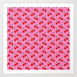Cherry Bomb Pattern Art Print