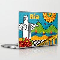 rio de janeiro Laptop & iPad Skins featuring Rio de Janeiro 2015 by Monica Fuchshuber