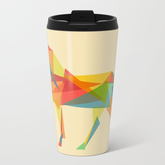 Fractal Geometric Unicorn Metal Travel Mug