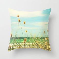 Somewhere Seaside Throw Pillow