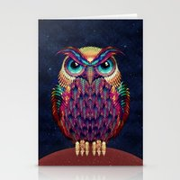 shipping Stationery Cards featuring OWL 2 by Ali GULEC