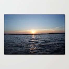 Set Over Water Canvas Print