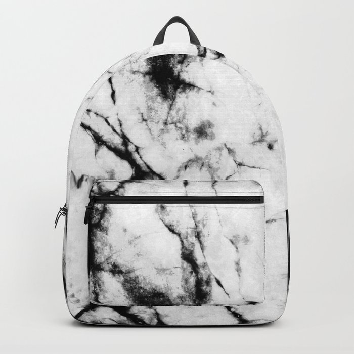 Marble Concrete Stone Texture Pattern Effect Dark Grain Backpack