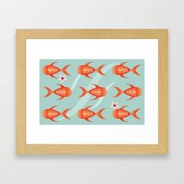 Go fishing Framed Art Print