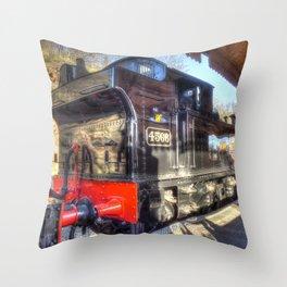 Steam Train No.4566 at Bewdley Throw Pillow